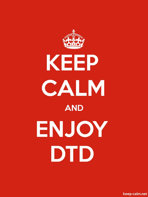 KEEP CALM AND ENJOY DTD - white/red - Default (600x800)
