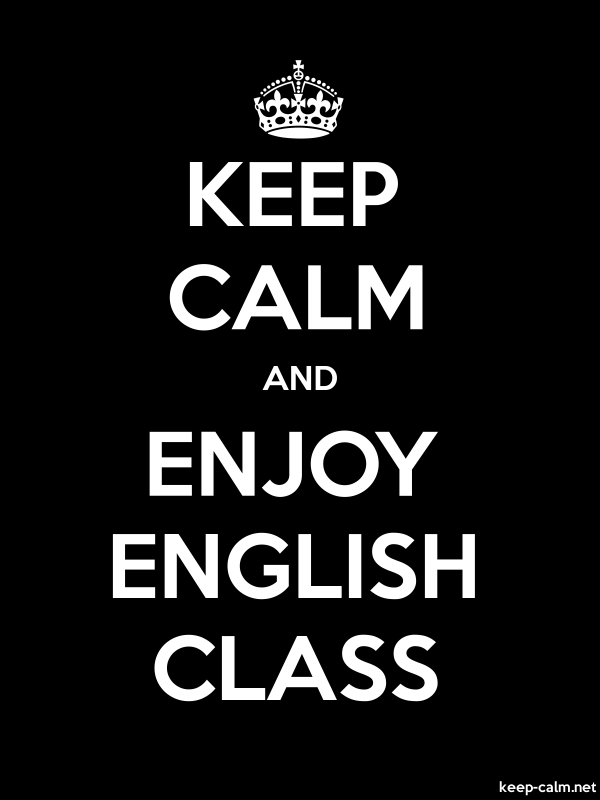 KEEP CALM AND ENJOY ENGLISH CLASS - white/black - Default (600x800)