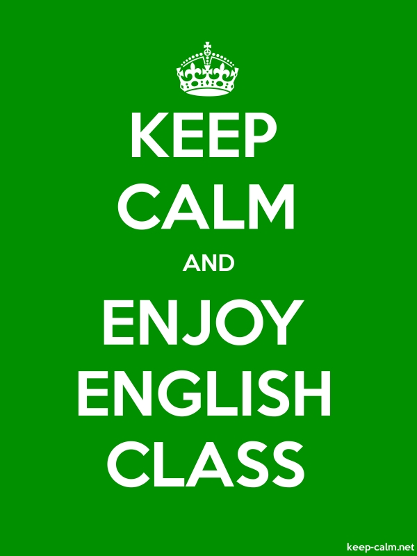 KEEP CALM AND ENJOY ENGLISH CLASS - white/green - Default (600x800)