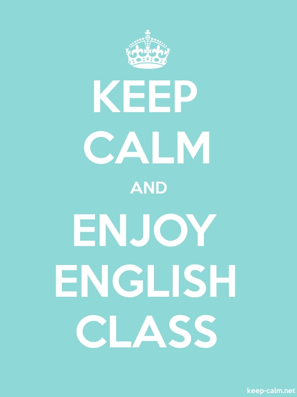 KEEP CALM AND ENJOY ENGLISH CLASS - white/lightblue - Default (600x800)