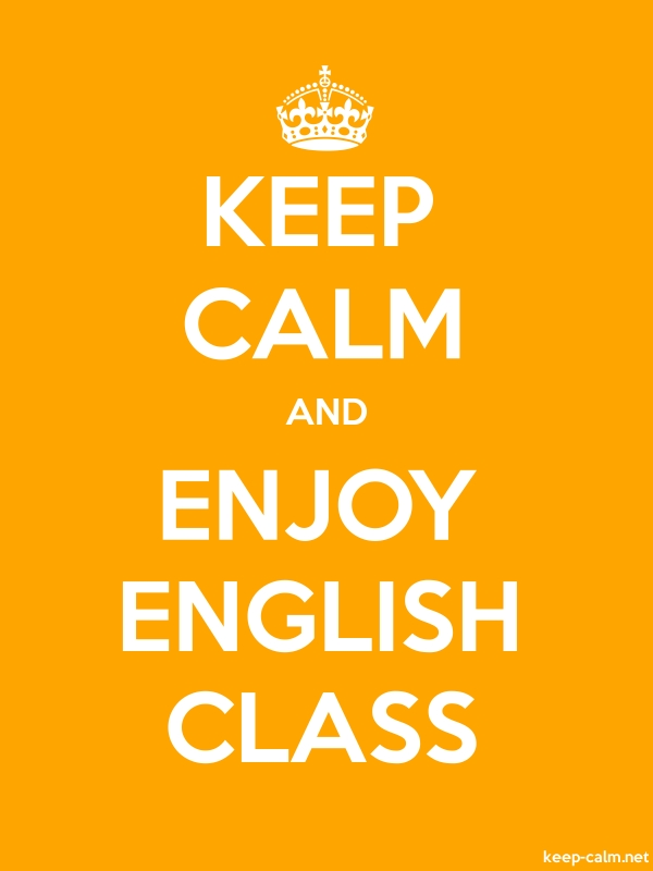 KEEP CALM AND ENJOY ENGLISH CLASS - white/orange - Default (600x800)