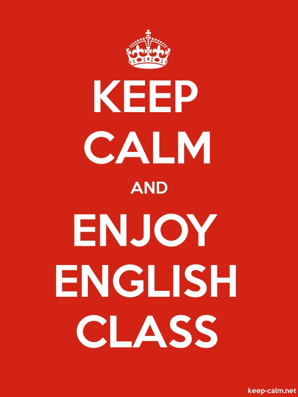 KEEP CALM AND ENJOY ENGLISH CLASS - white/red - Default (600x800)