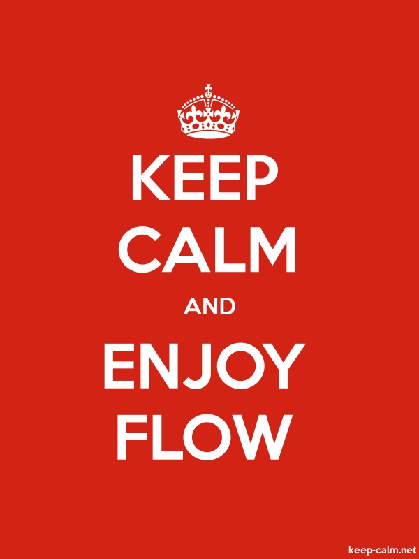 KEEP CALM AND ENJOY FLOW - white/red - Default (600x800)