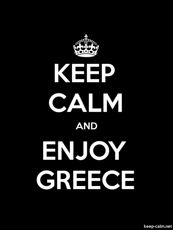 KEEP CALM AND ENJOY GREECE - white/black - Default (600x800)
