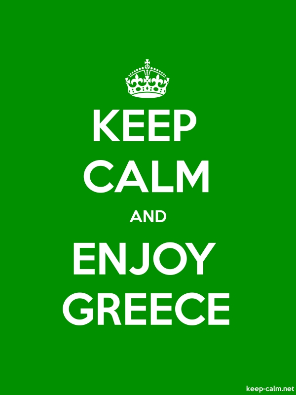 KEEP CALM AND ENJOY GREECE - white/green - Default (600x800)
