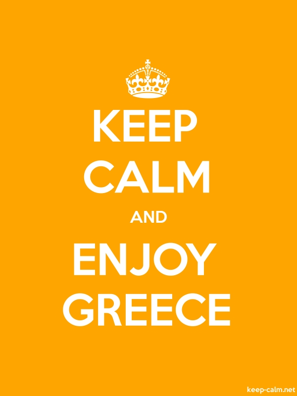 KEEP CALM AND ENJOY GREECE - white/orange - Default (600x800)