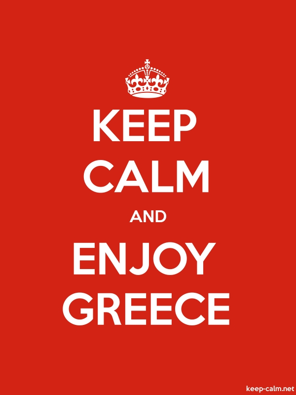 KEEP CALM AND ENJOY GREECE - white/red - Default (600x800)
