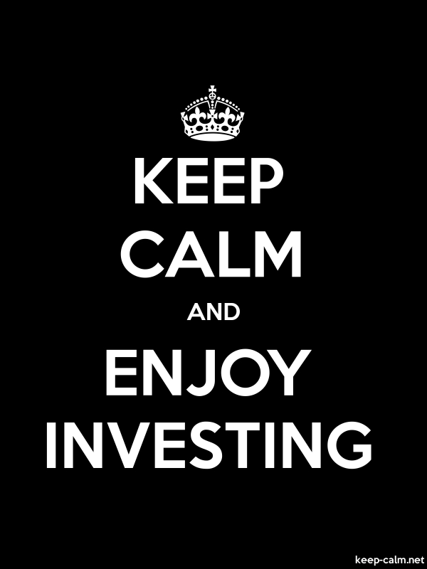 KEEP CALM AND ENJOY INVESTING - white/black - Default (600x800)