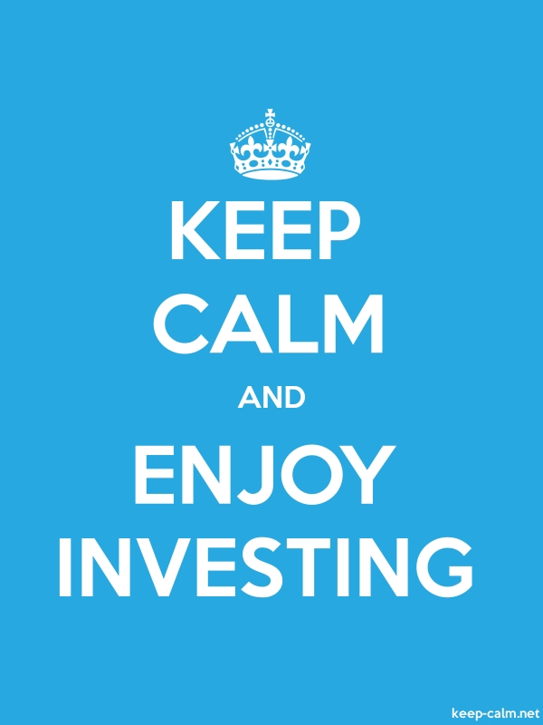 KEEP CALM AND ENJOY INVESTING - white/blue - Default (600x800)