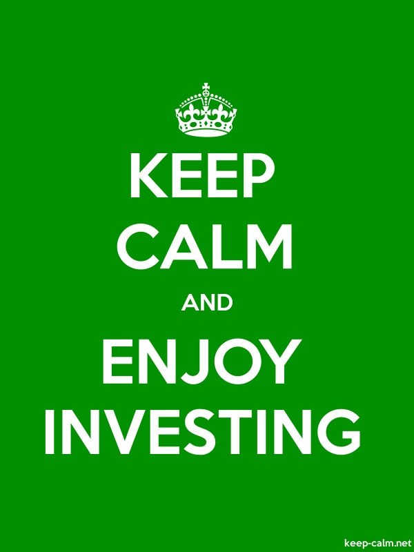 KEEP CALM AND ENJOY INVESTING - white/green - Default (600x800)