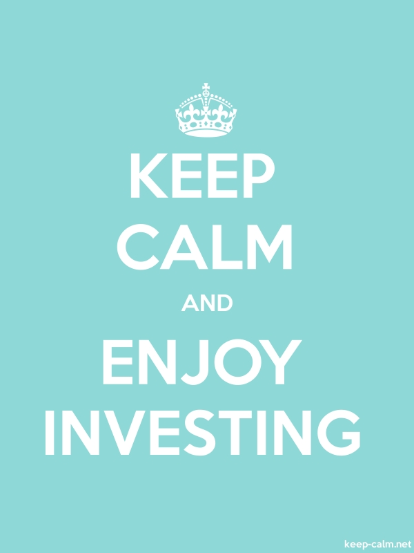 KEEP CALM AND ENJOY INVESTING - white/lightblue - Default (600x800)