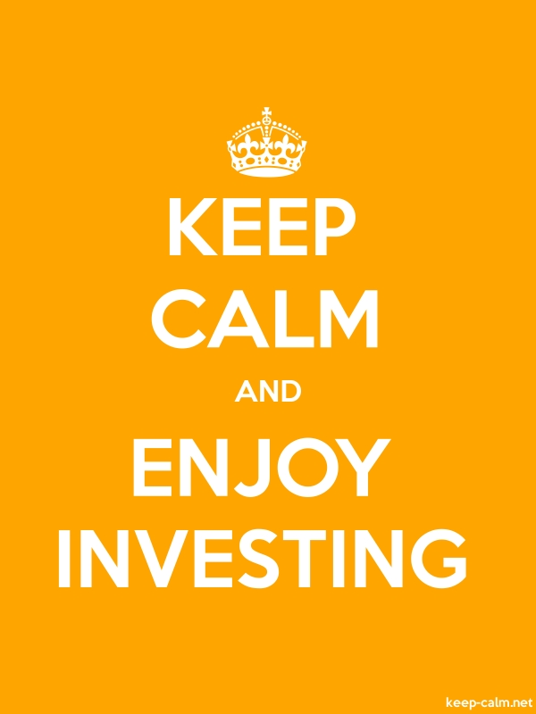 KEEP CALM AND ENJOY INVESTING - white/orange - Default (600x800)