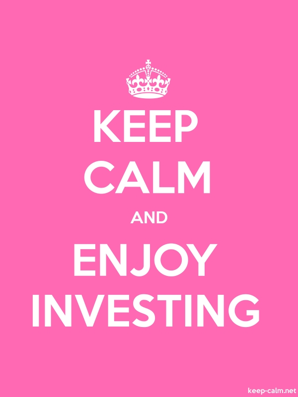 KEEP CALM AND ENJOY INVESTING - white/pink - Default (600x800)