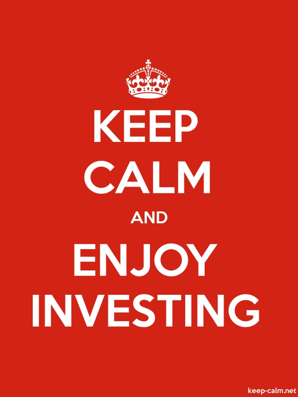 KEEP CALM AND ENJOY INVESTING - white/red - Default (600x800)