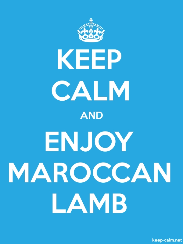KEEP CALM AND ENJOY MAROCCAN LAMB - white/blue - Default (600x800)