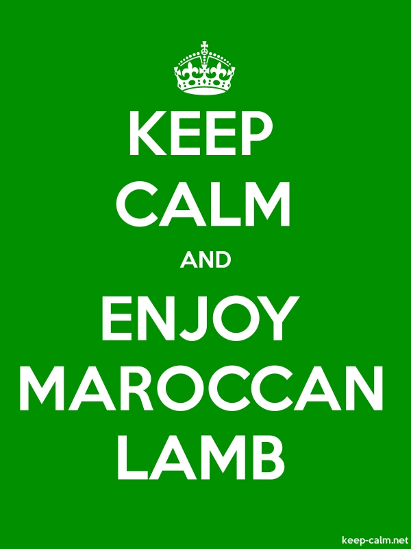 KEEP CALM AND ENJOY MAROCCAN LAMB - white/green - Default (600x800)