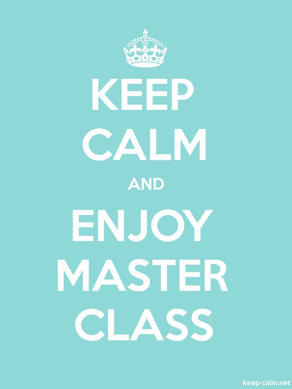 KEEP CALM AND ENJOY MASTER CLASS - white/lightblue - Default (600x800)