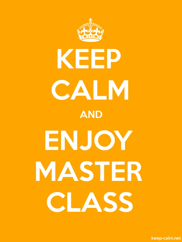 KEEP CALM AND ENJOY MASTER CLASS - white/orange - Default (600x800)