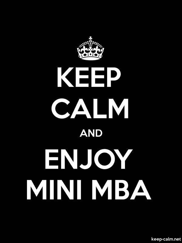 KEEP CALM AND ENJOY MINI MBA - white/black - Default (600x800)