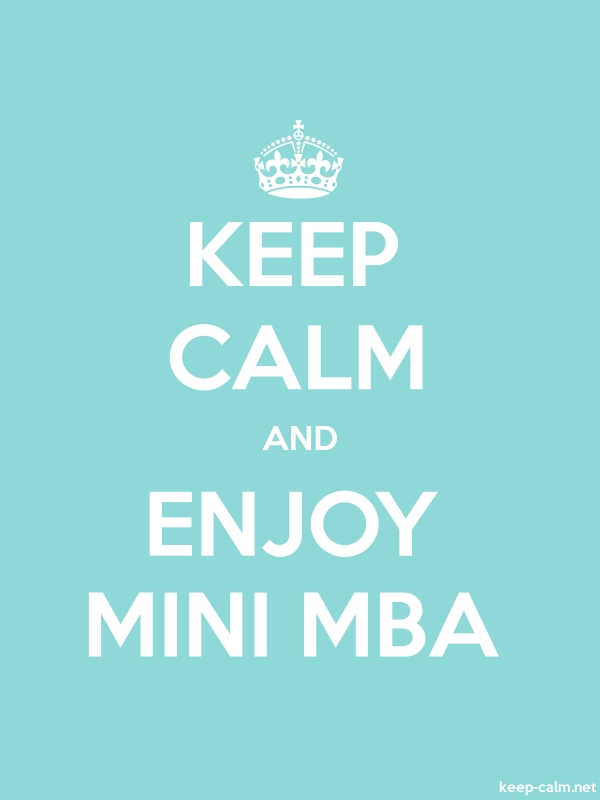KEEP CALM AND ENJOY MINI MBA - white/lightblue - Default (600x800)