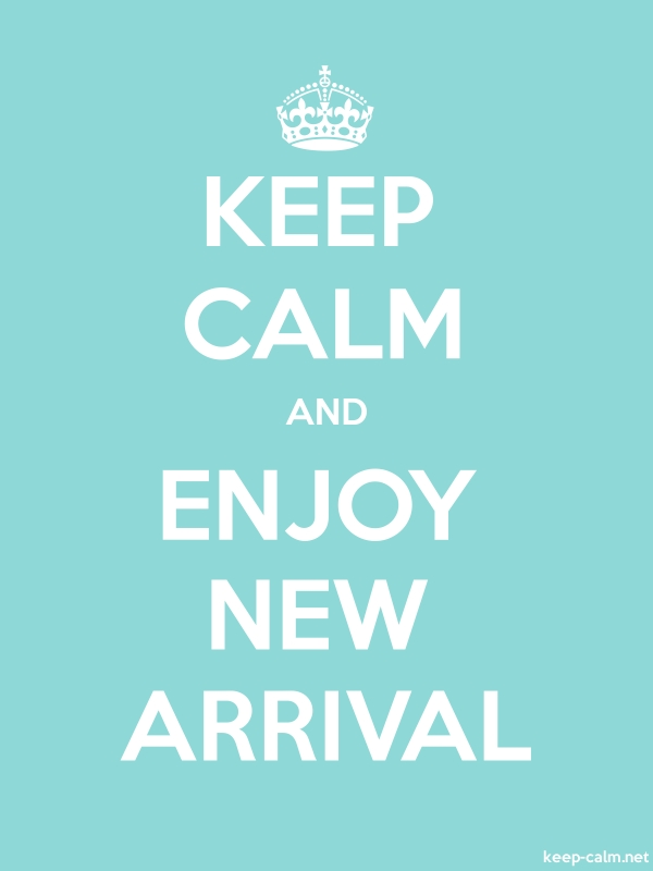 KEEP CALM AND ENJOY NEW ARRIVAL - white/lightblue - Default (600x800)
