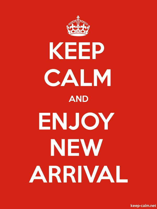 KEEP CALM AND ENJOY NEW ARRIVAL - white/red - Default (600x800)