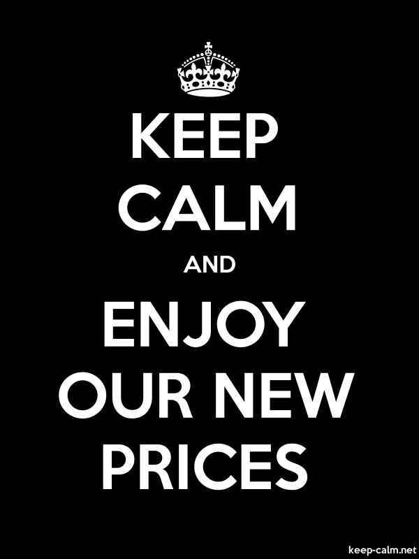 KEEP CALM AND ENJOY OUR NEW PRICES - white/black - Default (600x800)