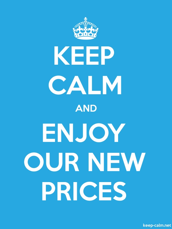 KEEP CALM AND ENJOY OUR NEW PRICES - white/blue - Default (600x800)