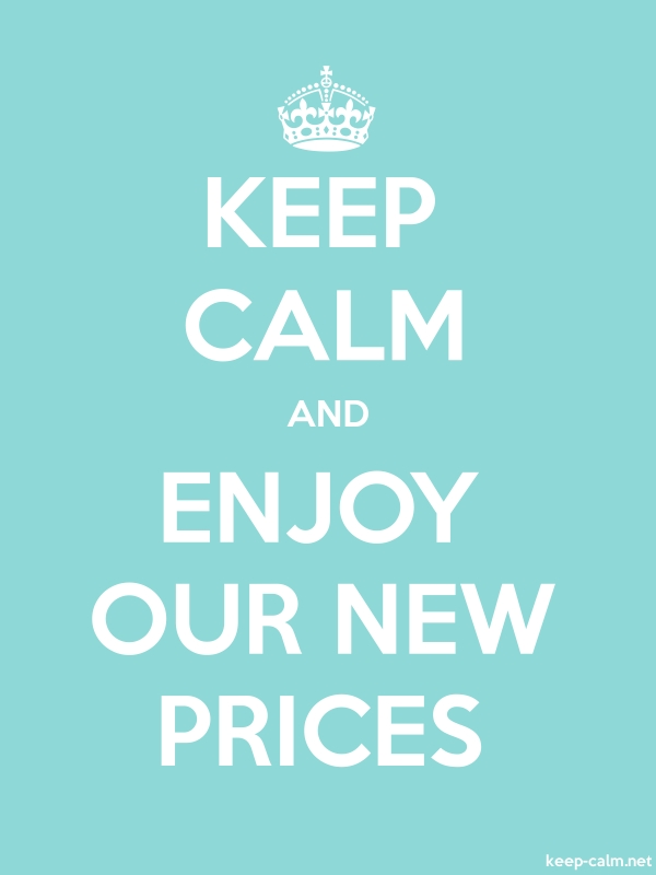 KEEP CALM AND ENJOY OUR NEW PRICES - white/lightblue - Default (600x800)