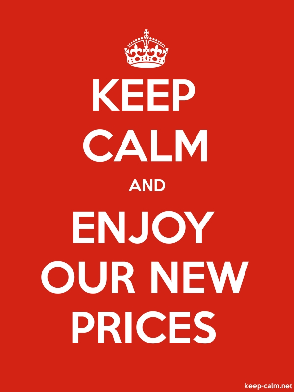 KEEP CALM AND ENJOY OUR NEW PRICES - white/red - Default (600x800)