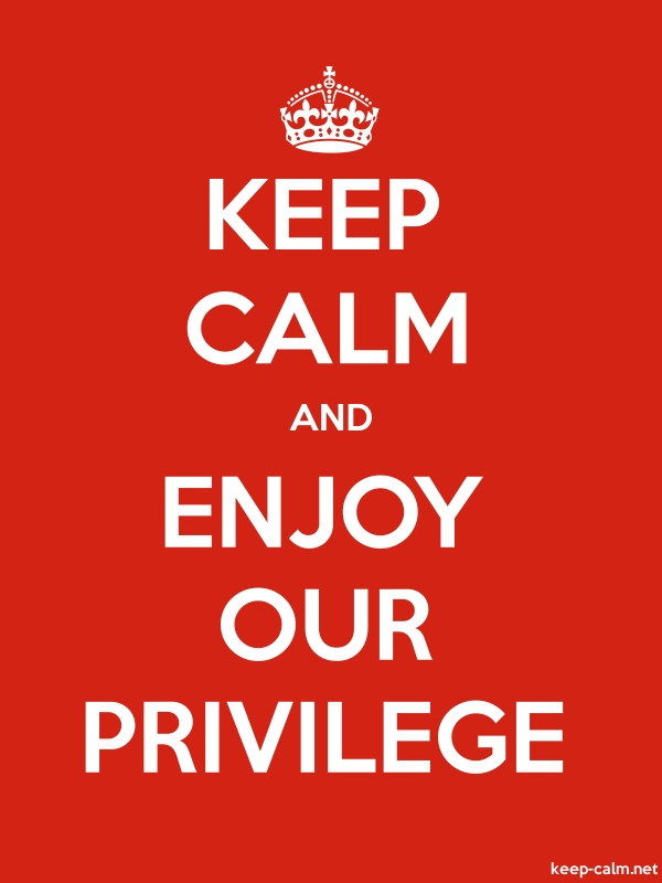 KEEP CALM AND ENJOY OUR PRIVILEGE - white/red - Default (600x800)