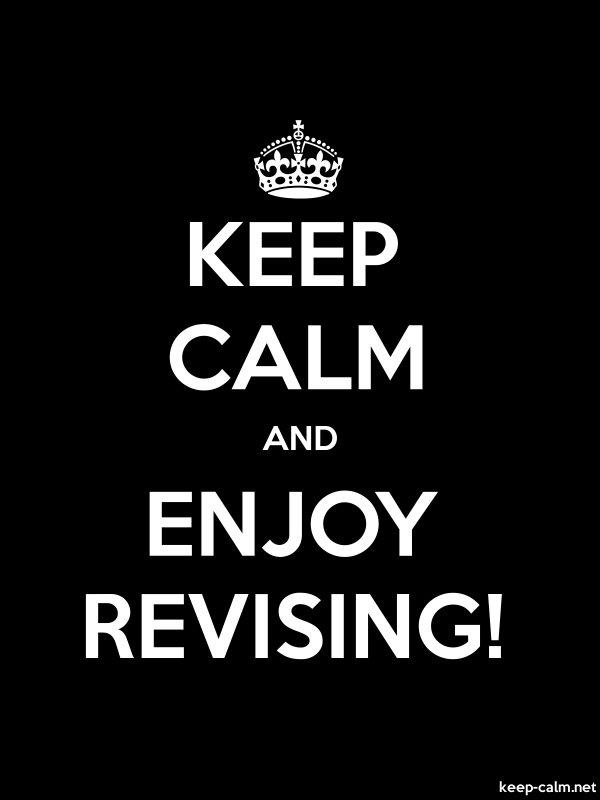 KEEP CALM AND ENJOY REVISING! - white/black - Default (600x800)