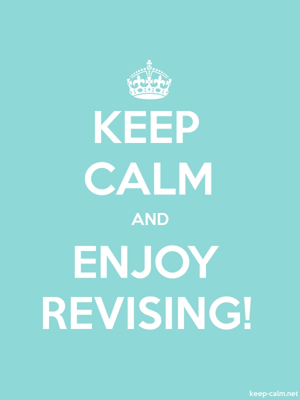 KEEP CALM AND ENJOY REVISING! - white/lightblue - Default (600x800)