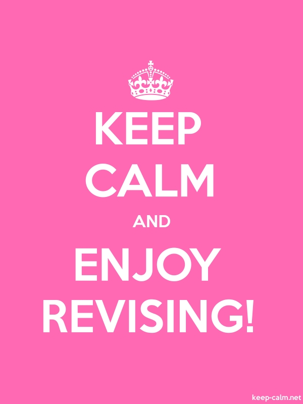 KEEP CALM AND ENJOY REVISING! - white/pink - Default (600x800)