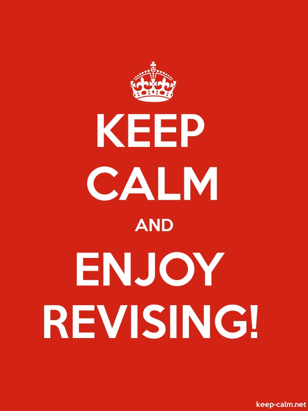 KEEP CALM AND ENJOY REVISING! - white/red - Default (600x800)