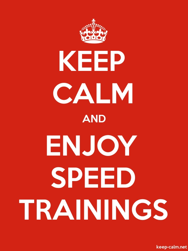 KEEP CALM AND ENJOY SPEED TRAININGS - white/red - Default (600x800)