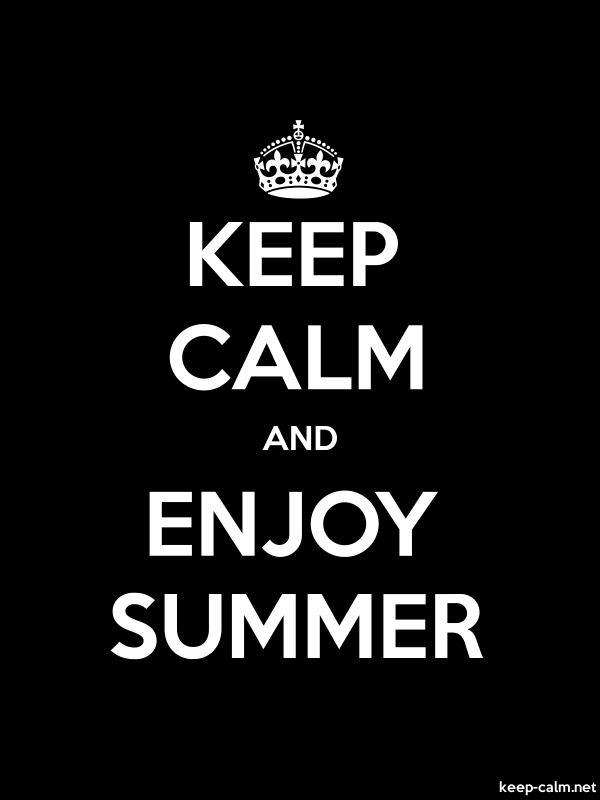 KEEP CALM AND ENJOY SUMMER - white/black - Default (600x800)
