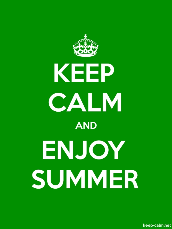 KEEP CALM AND ENJOY SUMMER - white/green - Default (600x800)