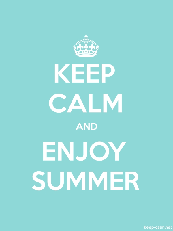 KEEP CALM AND ENJOY SUMMER - white/lightblue - Default (600x800)