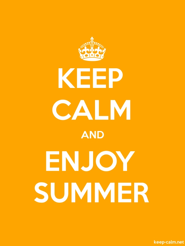 KEEP CALM AND ENJOY SUMMER - white/orange - Default (600x800)