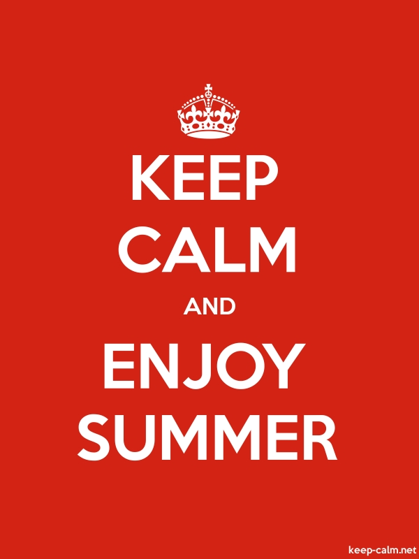 KEEP CALM AND ENJOY SUMMER - white/red - Default (600x800)