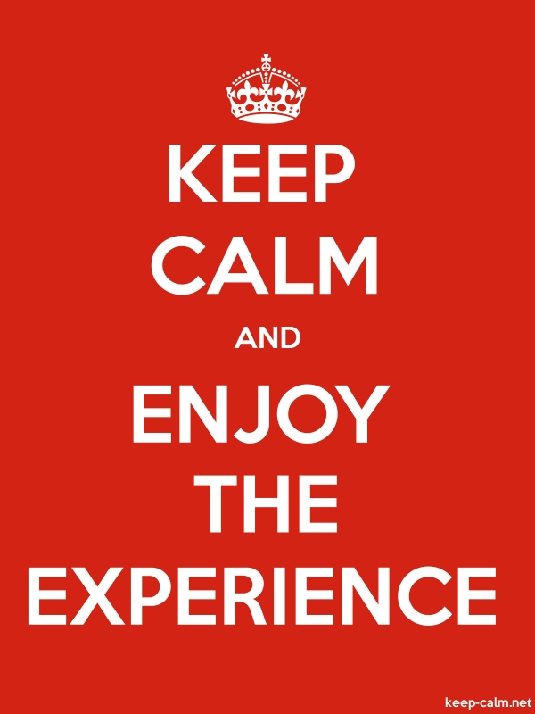 KEEP CALM AND ENJOY THE EXPERIENCE - white/red - Default (600x800)