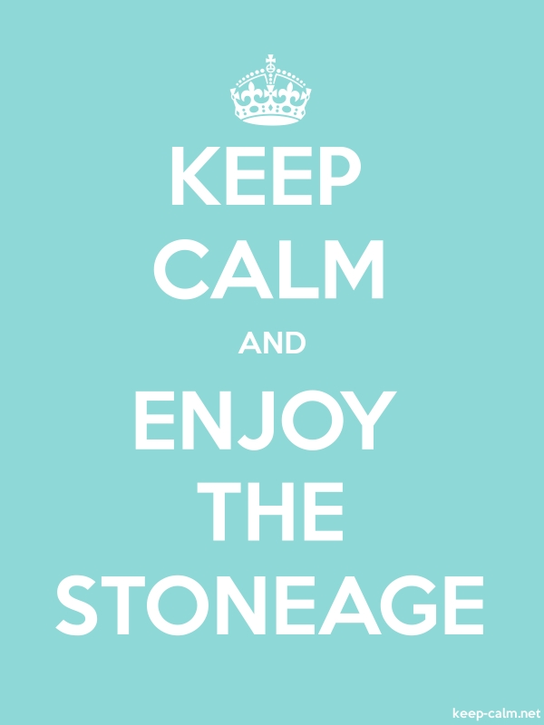 KEEP CALM AND ENJOY THE STONEAGE - white/lightblue - Default (600x800)