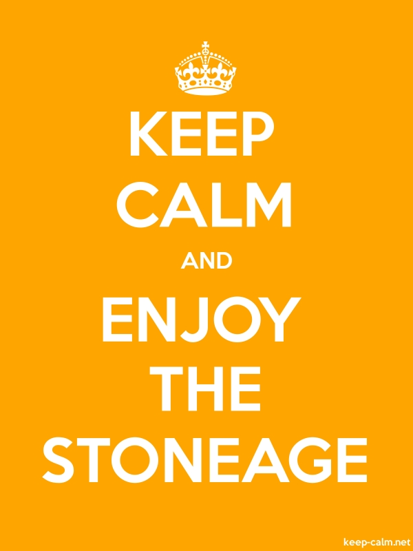 KEEP CALM AND ENJOY THE STONEAGE - white/orange - Default (600x800)