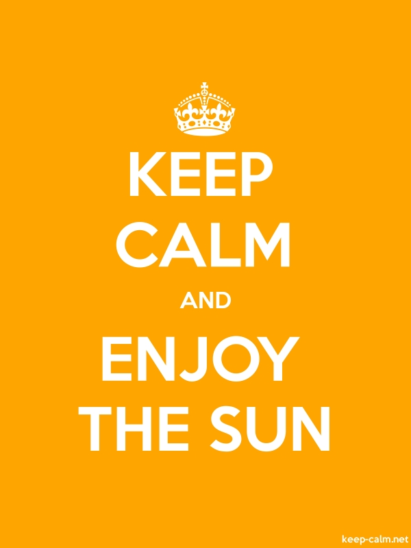 KEEP CALM AND ENJOY THE SUN - white/orange - Default (600x800)