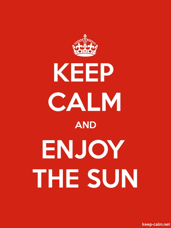 KEEP CALM AND ENJOY THE SUN - white/red - Default (600x800)