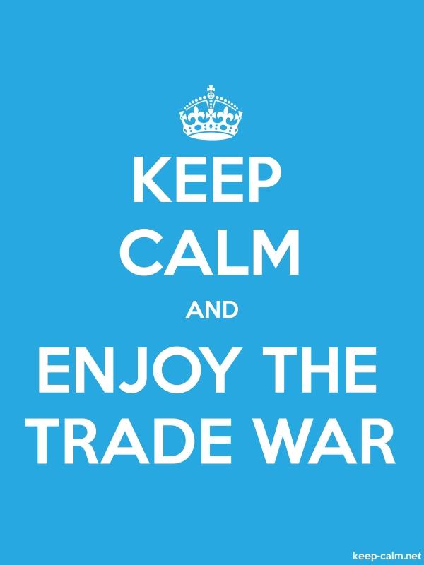 KEEP CALM AND ENJOY THE TRADE WAR - white/blue - Default (600x800)