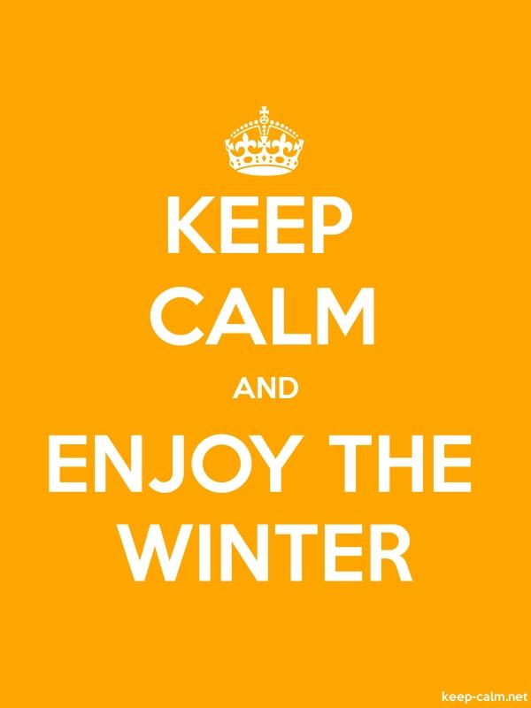 KEEP CALM AND ENJOY THE WINTER - white/orange - Default (600x800)