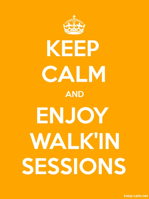 KEEP CALM AND ENJOY WALK'IN SESSIONS - white/orange - Default (600x800)