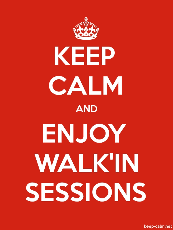 KEEP CALM AND ENJOY WALK'IN SESSIONS - white/red - Default (600x800)